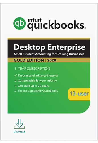 2020 QuickBooks Enterprise Gold 13 User