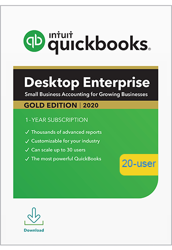 2020 QuickBooks Enterprise Gold 20 User