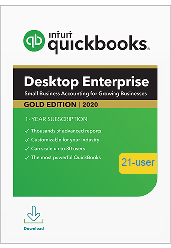 2020 QuickBooks Enterprise Gold 21 User