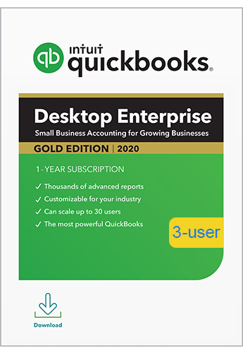 2020 QuickBooks Enterprise Gold 3 User