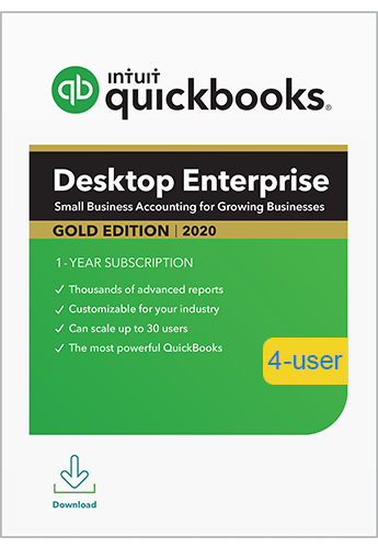 2020 QuickBooks Enterprise Gold 4 User