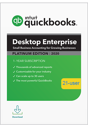 2020 QuickBooks Enterprise Platinum 21 User
