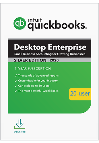 2020 QuickBooks Enterprise Silver 20 User