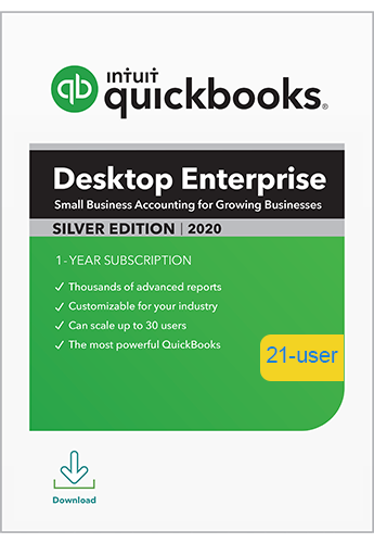 2020 QuickBooks Enterprise Silver 21 User