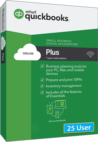 2020 QuickBooks Online Plus + 25 User